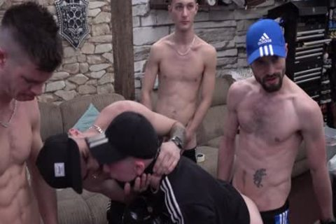 Quarantined N hopeless males pound 'resident cum Dump' On LockDown web camera Show