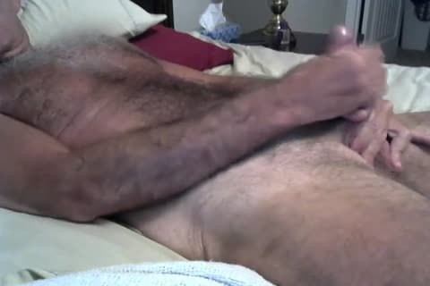 bushy Daddy Jerking On The couch