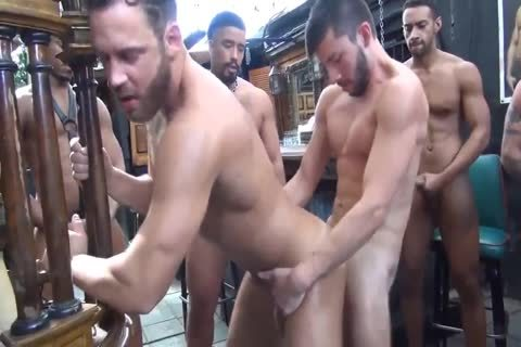 Cumdump's raw bunch gangbang