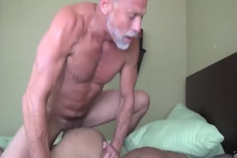 grandpa bonks His Muscled black Toyboy