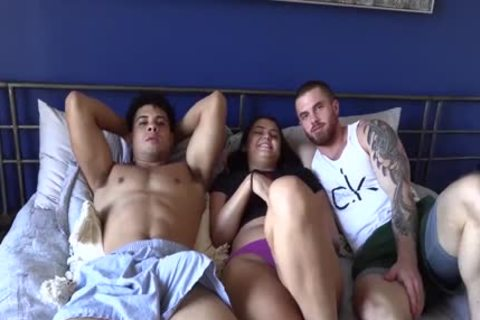 stylish Lad Bonks His hairy superlatively admirable friend And His latina GF
