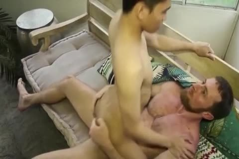 Smooth asian lad fucked By rough White Top