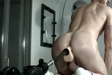 Muscled serf For Pervy pound Machine Session