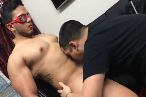 STRAIGHT beefy guy oral joy