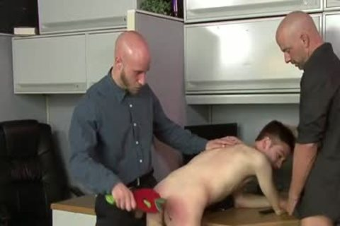Youthful homo Assistant Has A Three-some With His Office Managers