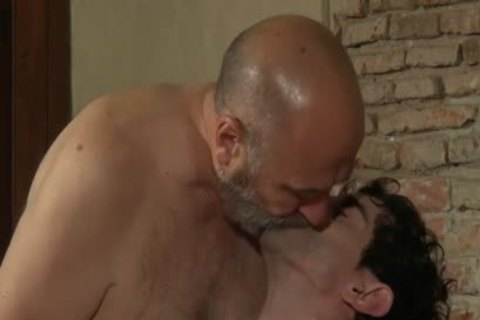gay threesome - 2 older chap And 1 man