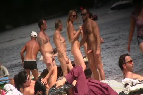 SPYING ON bare males AT THE NUDIST BEACH - VOL 1