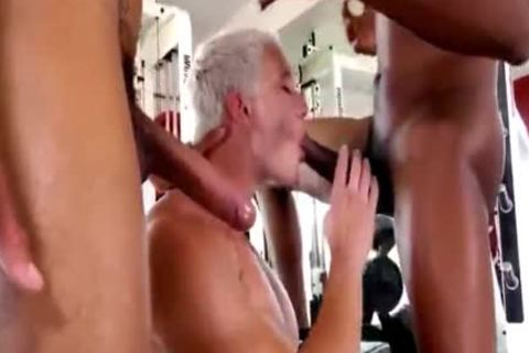 Blond shlong acquires pounded By Two black penises