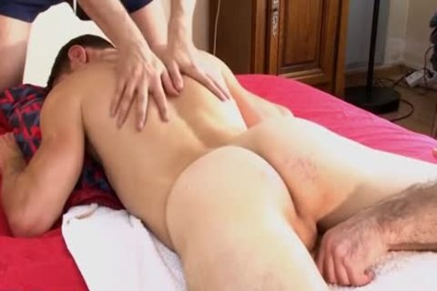 1rst Time In Porn, Straight Next Door lad acquires Massages By 2 boys !!!